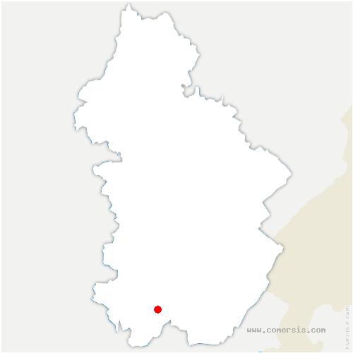 carte de localisation de Arinthod