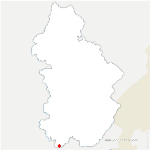 carte de localisation de Aromas