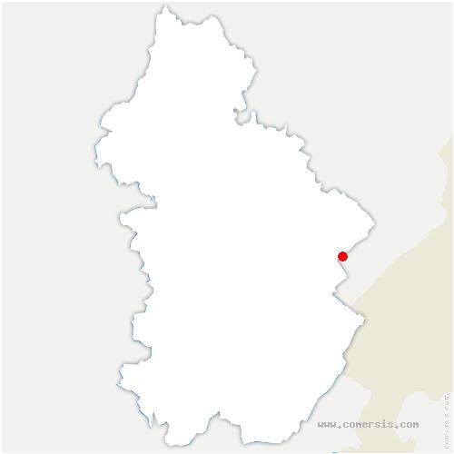 carte de localisation de Arsure-Arsurette