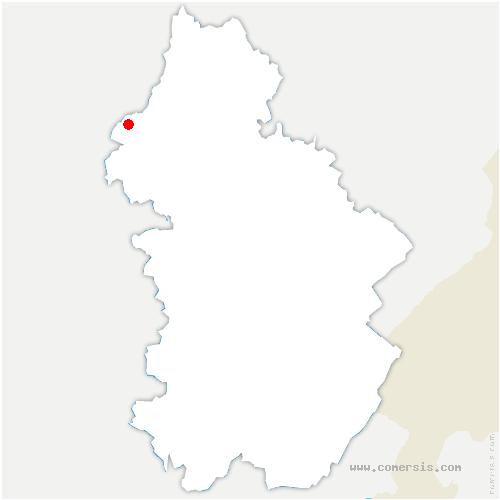 carte de localisation de Aumur