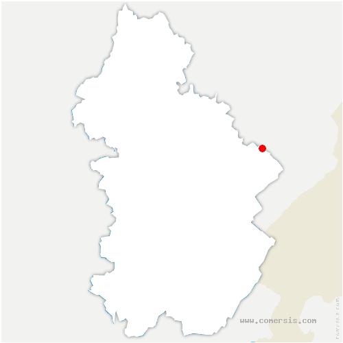 carte de localisation de Bief-du-Fourg
