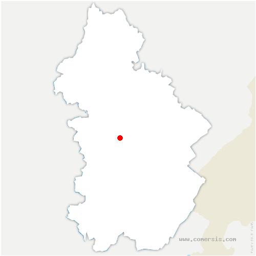 carte de localisation de Blois-sur-Seille