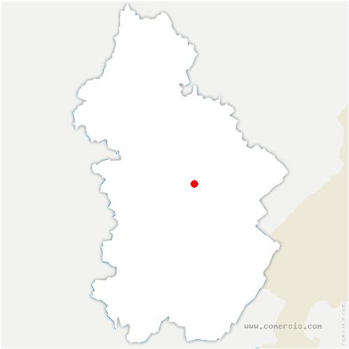 carte de localisation de Bonnefontaine
