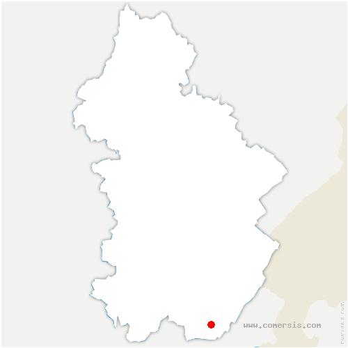 carte de localisation de Bouchoux