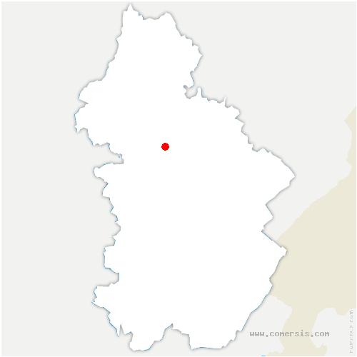 carte de localisation de Brainans