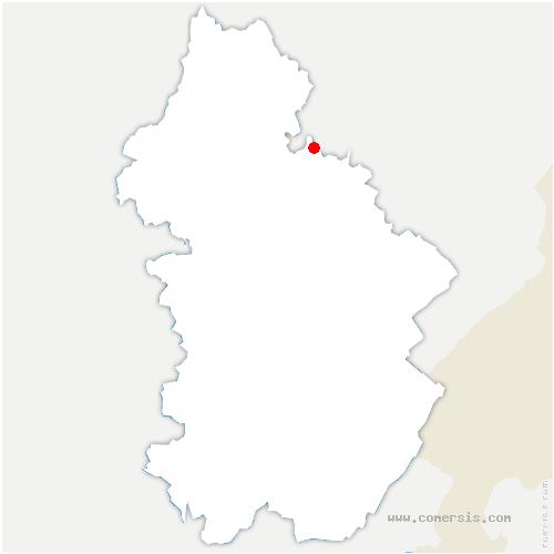 carte de localisation de Champagne-sur-Loue