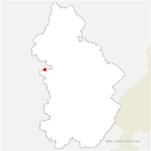carte de localisation de Chapelle-Voland