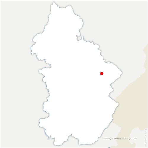 carte de localisation de Charency