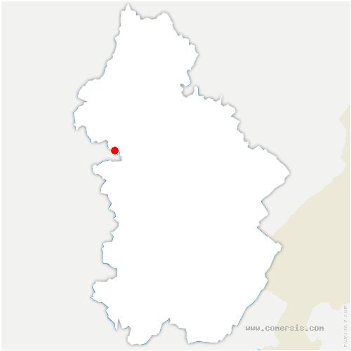 carte de localisation de Chassagne