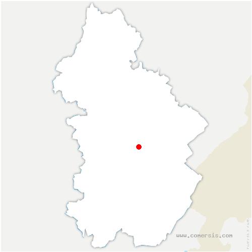 carte de localisation de Châtillon