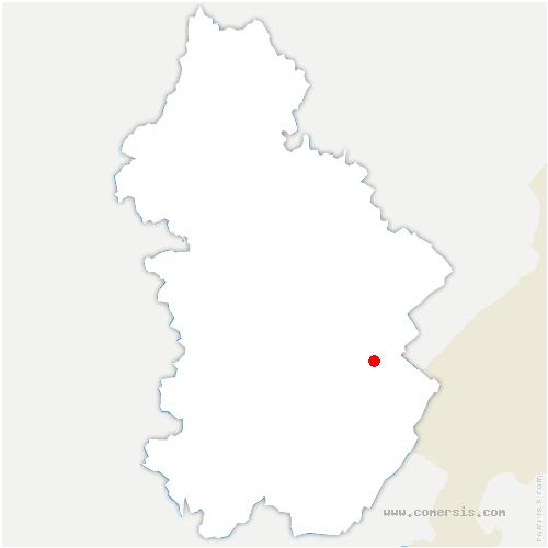 carte de localisation de Chaumusse