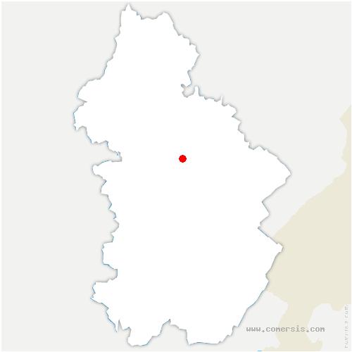 carte de localisation de Chaussenans