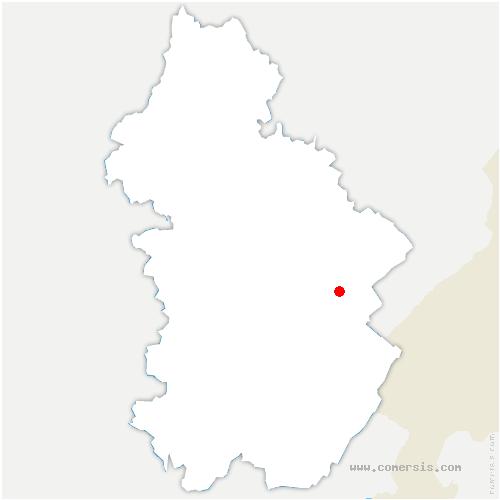 carte de localisation de Chaux-des-Crotenay