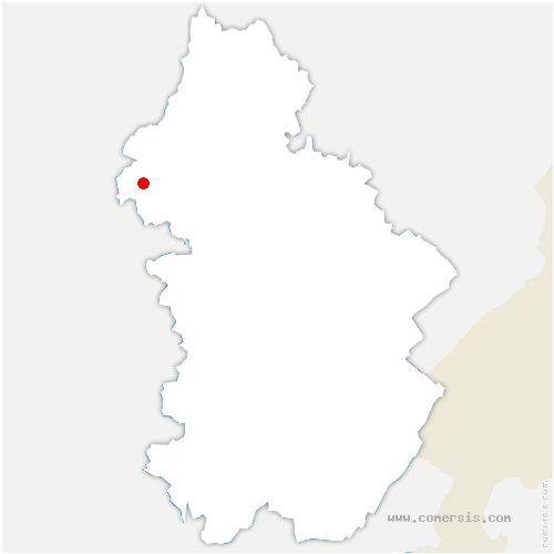 carte de localisation de Chemin