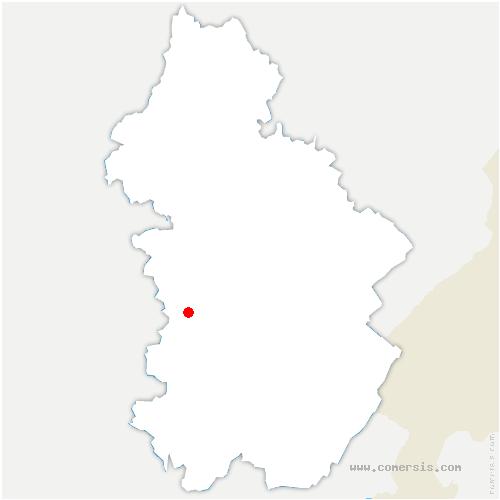 carte de localisation de Chilly-le-Vignoble