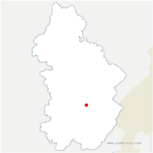 carte de localisation de Cogna