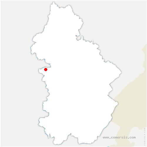 carte de localisation de Commenailles