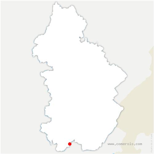 carte de localisation de Condes