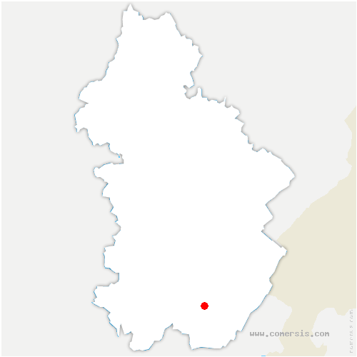carte de localisation de Coteaux du Lizon