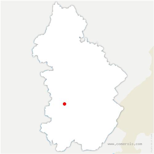 carte de localisation de Courbette