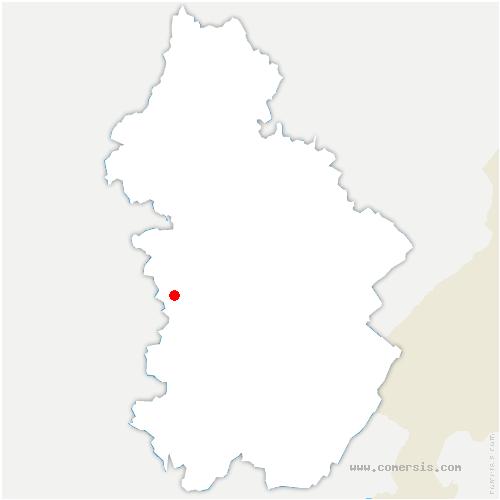 carte de localisation de Courlaoux