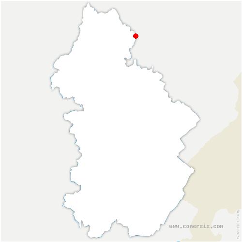 carte de localisation de Courtefontaine