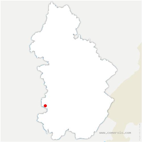 carte de localisation de Cousance