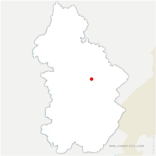 carte de localisation de Crotenay