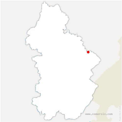 carte de localisation de Cuvier