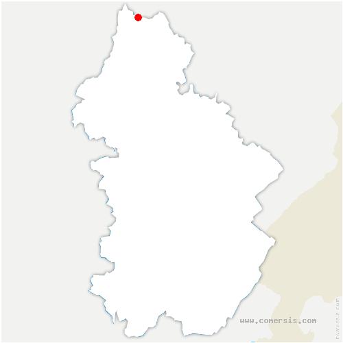 carte de localisation de Dammartin-Marpain