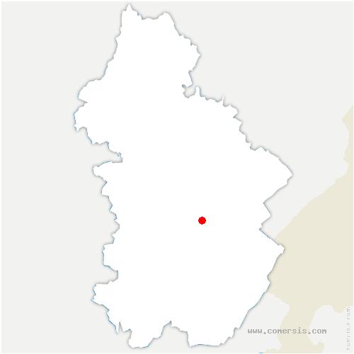 carte de localisation de Denezières