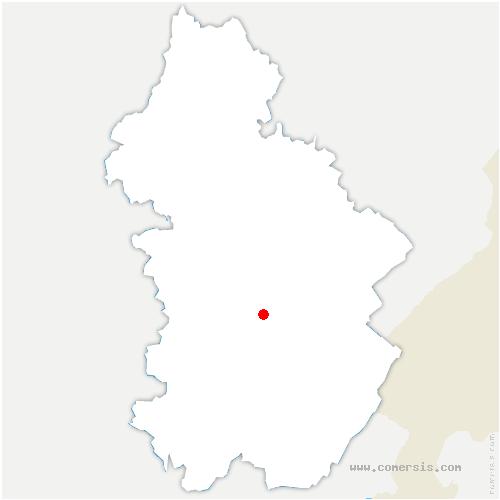 carte de localisation de Doucier