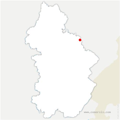 carte de localisation de Dournon