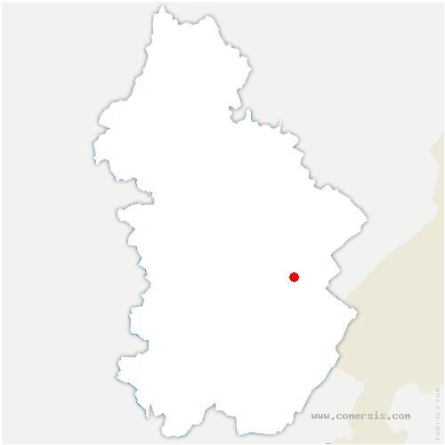 carte de localisation de Entre-deux-Monts