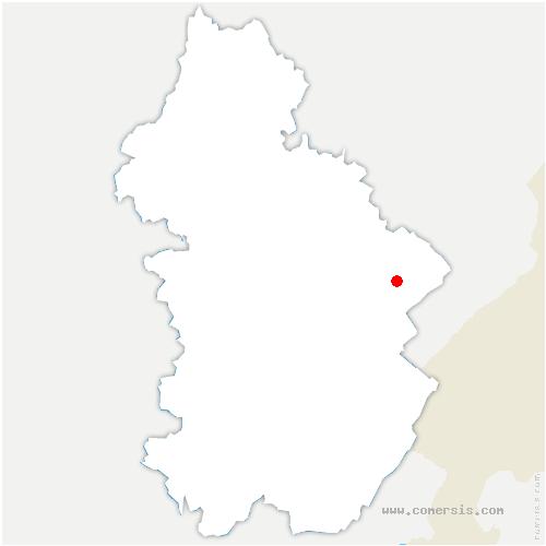 carte de localisation de Favière