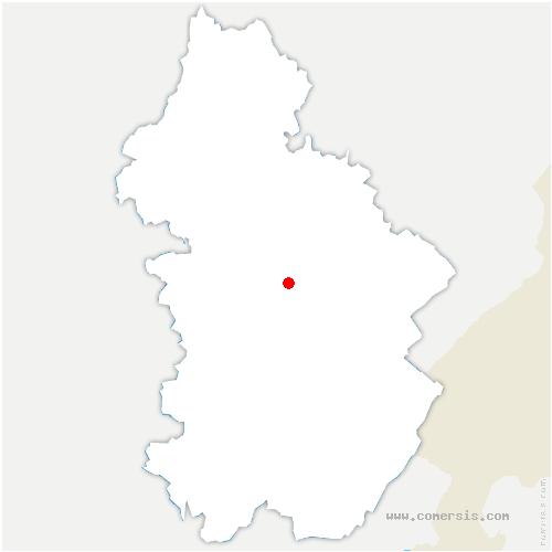 carte de localisation de Fay-en-Montagne