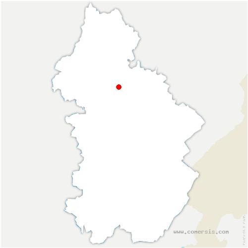 carte de localisation de Ferté