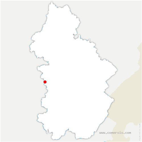 carte de localisation de Fontainebrux