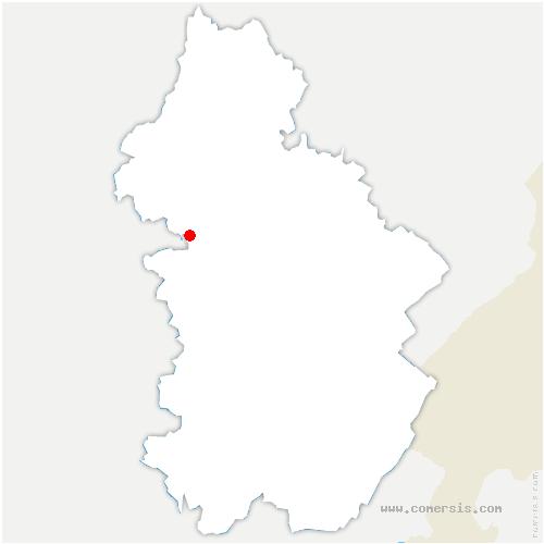 carte de localisation de Foulenay