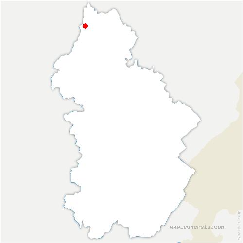carte de localisation de Frasne-les-Meulières