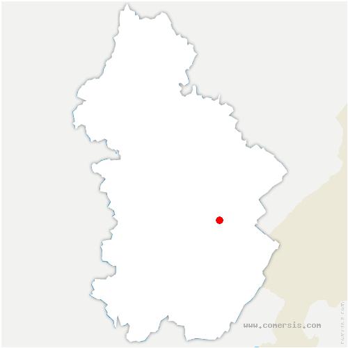 carte de localisation de Frasnois