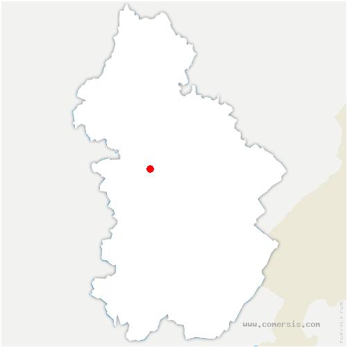 carte de localisation de Frontenay