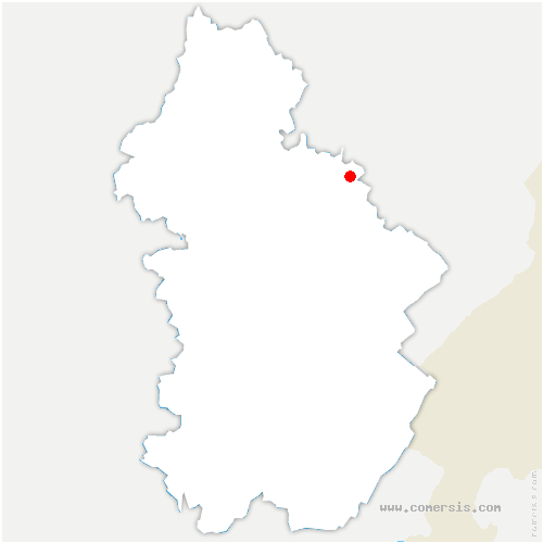 carte de localisation de Geraise