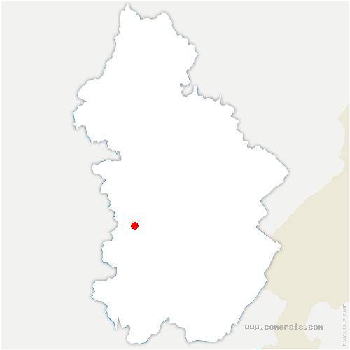 carte de localisation de Gevingey