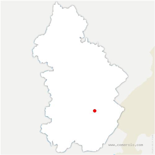 carte de localisation de Grande-Rivière Château