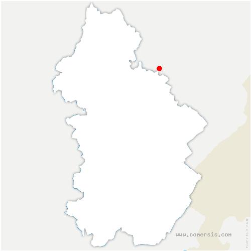 carte de localisation de Ivrey