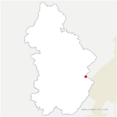 carte de localisation de Lac-des-Rouges-Truites