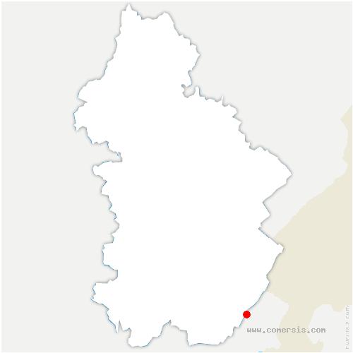 carte de localisation de Lajoux
