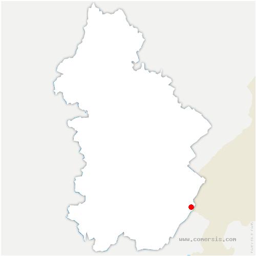carte de localisation de Lamoura