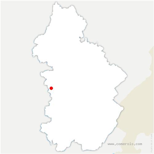 carte de localisation de Larnaud